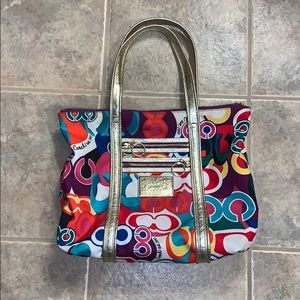 Coach Poppy Multicolor Purse